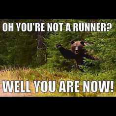 oh your not a runner