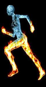 burning runner
